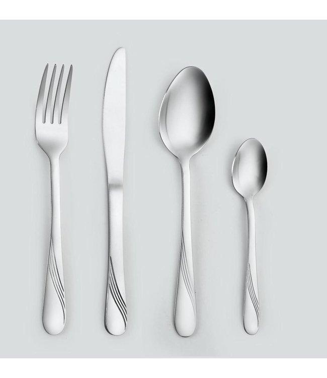 A. La. Cuisine 20 Piece Stainless Steel Cutlery Set