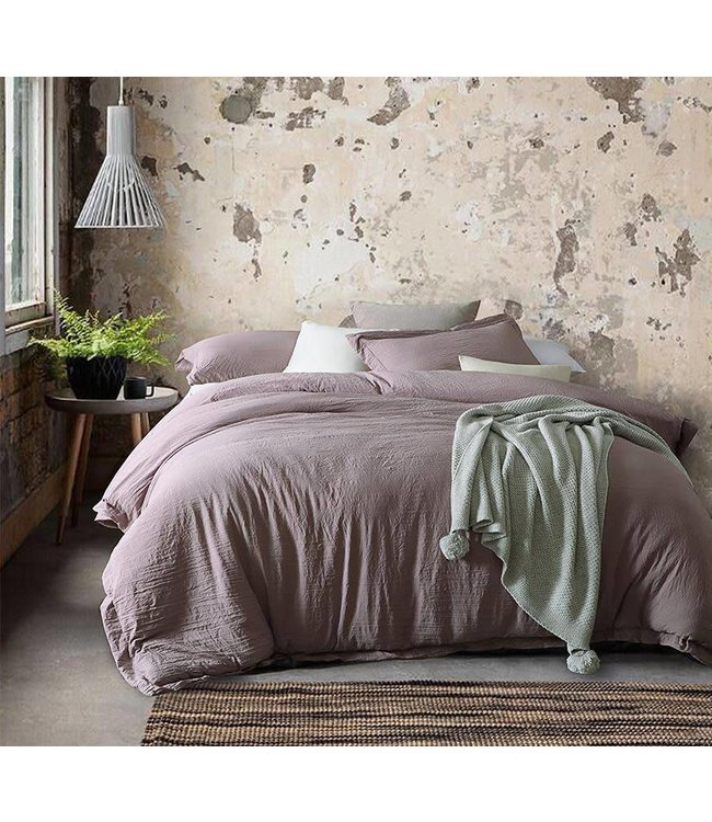 Adrien Lewis 3 Pce Stonewashed Microfiber Duvet Cover Sets - King