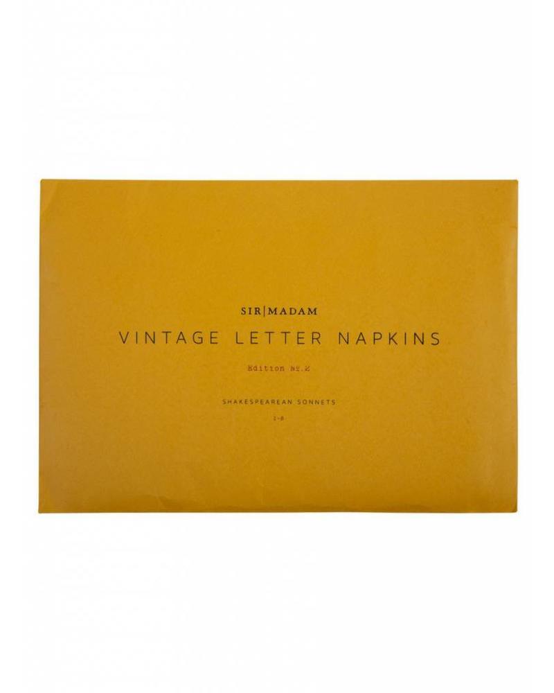 Sir/Madam Letter Napkins