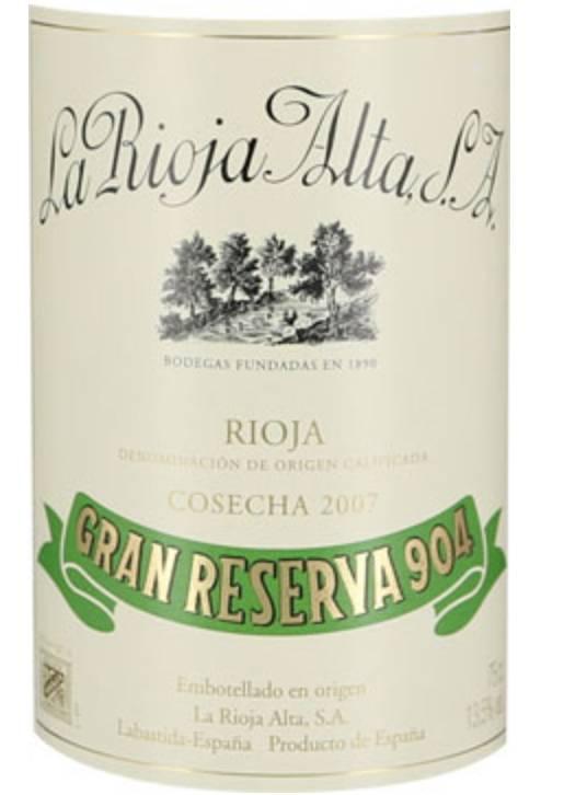 La Rioja Alta Gran Reserva 904 2007