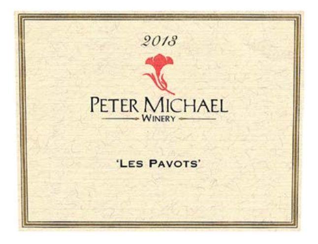 Peter Michael 'Les Pavots' 2013