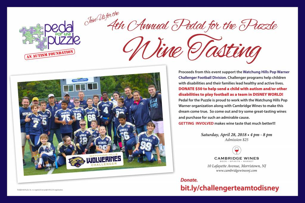 Pedal for the Puzzle Charity Wine Tasting