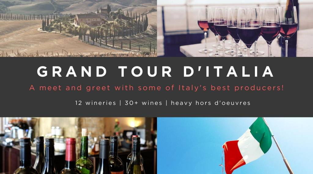 Grand Tour of Italy Tasting