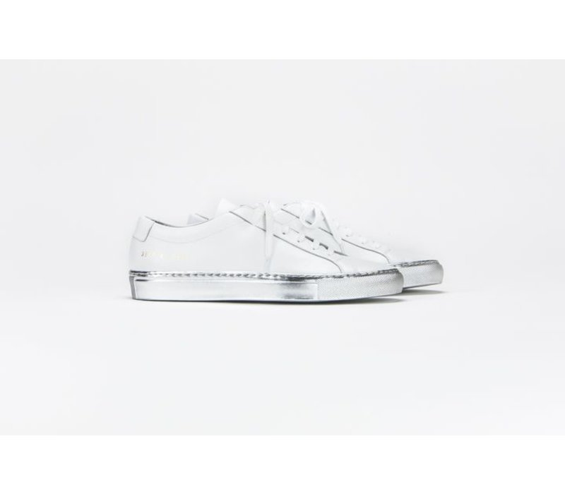 Common Projects Achilles Low with Silver Sole