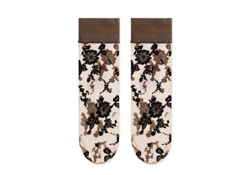 Hansel From Basel Jacquard Floral Sock