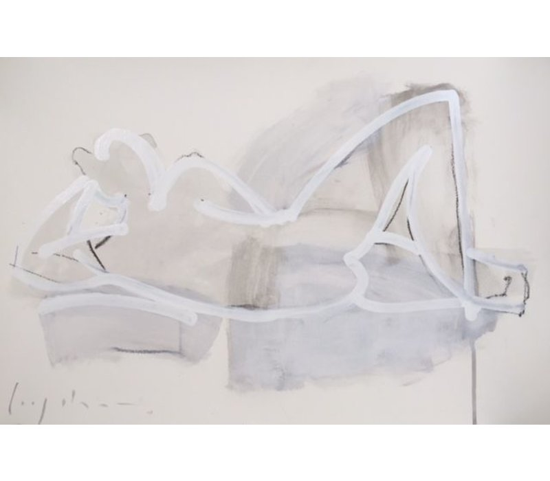 "Kate Long Stevenson ""Untitled in White III"" Framed"