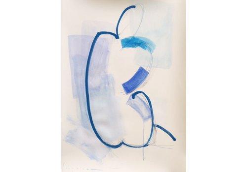 """Kate Long Stevenson """"Untitled in Blue II"""" Framed"""