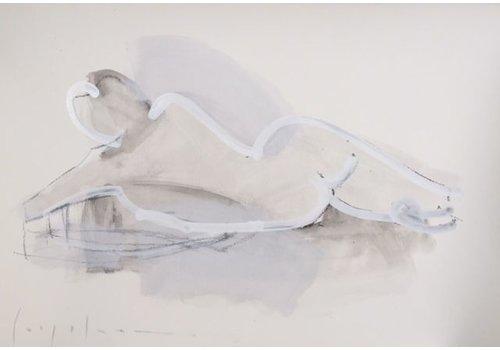"""Kate Long Stevenson """"Untitled in White II"""" Framed"""