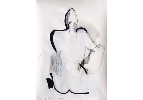 """Kate Long Stevenson """"Untitled in Black III"""" Framed"""