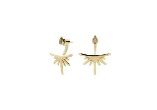 Meadowlark Gold Petal Burst Ear Jackets