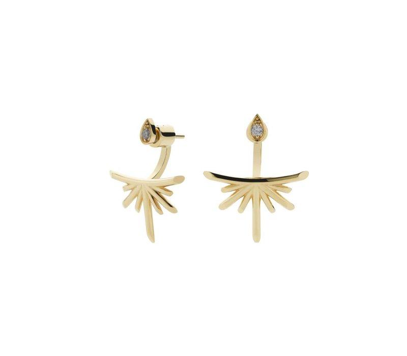 Meadowlark Gold Petal Burst Ear Jackets