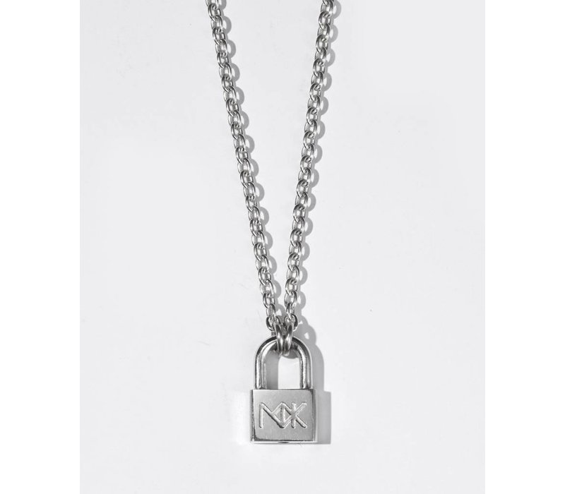 lock rose necklace gioielli ponte padlock love pendant vecchio white gold