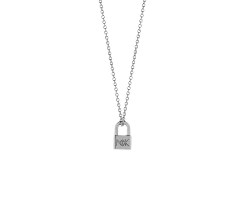 Meadowlark Silver Lock Charm Necklace