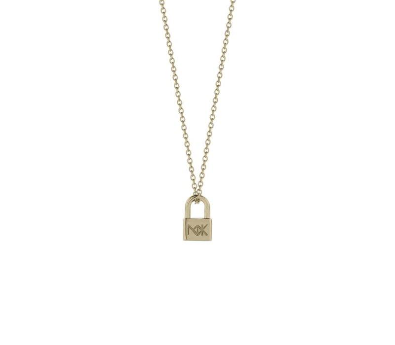Meadowlark Gold Lock Charm Necklace