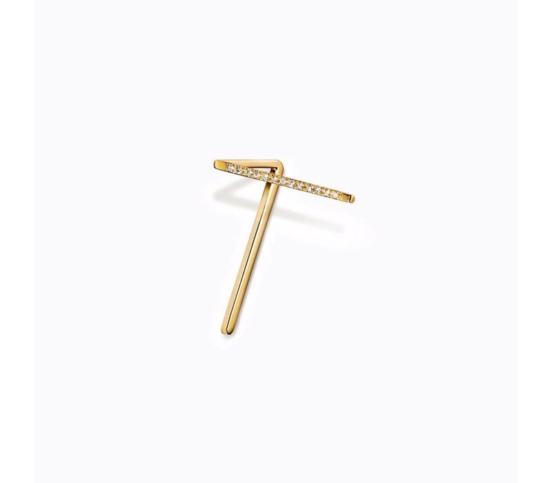 Shihara Diamond Angled Post Earring