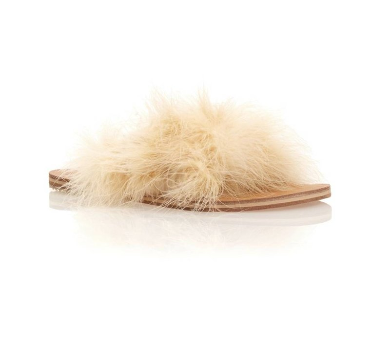 Brother Vellies Marabou Lamu Sandal