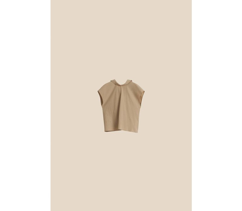 Aeron Back Buttoned Top
