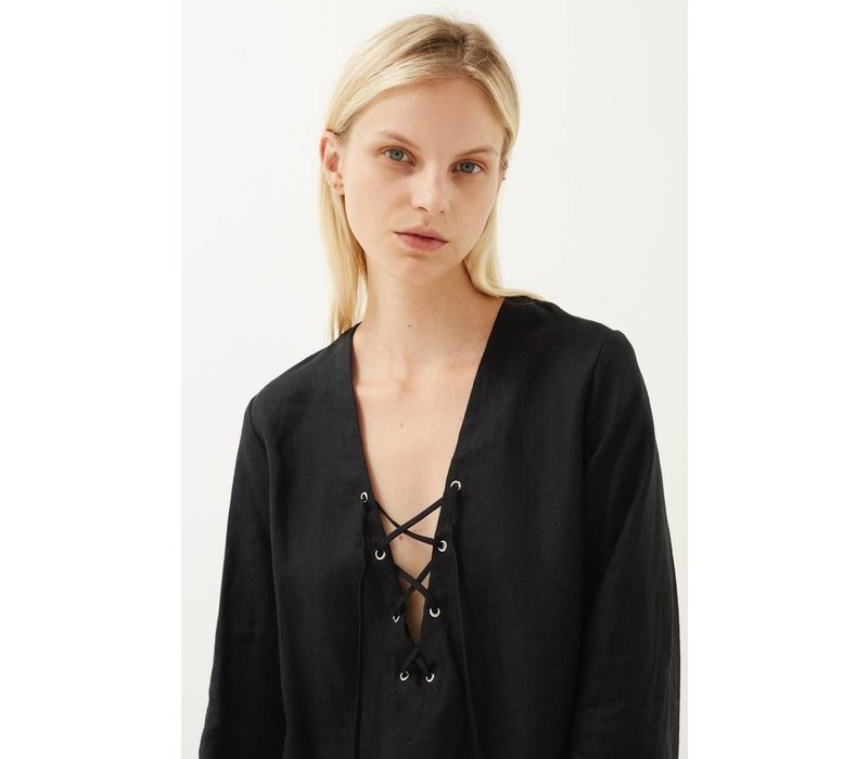 Matin Lace Up Top