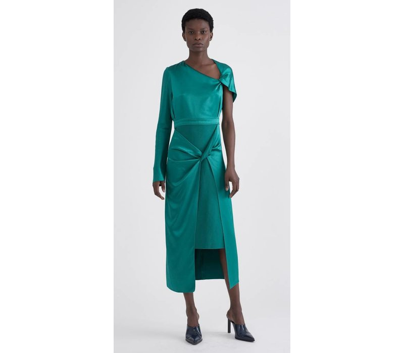 Dion Lee Silk Satin Knot Dress