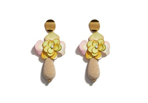 Lizzie Fortunato Magnolia Drop Earrings