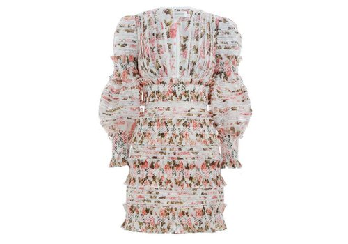 Zimmermann Sunny Smocked Mini Dress