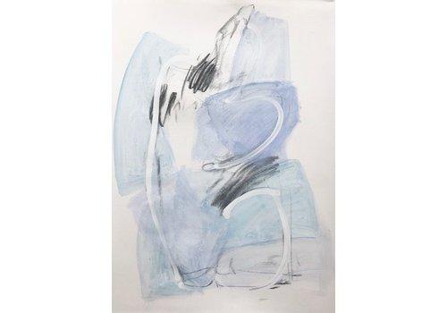 "Kate Long Stevenson ""Untitled III, Blue Nude"" Framed"