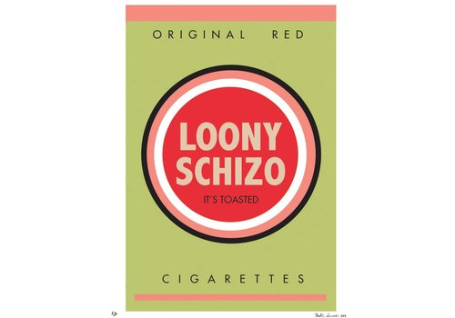 """Bad Habits: Loony Schizo"" Unframed"