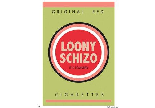 """Kristin Simmons """"Bad Habits: Loony Schizo"""" Unframed"""