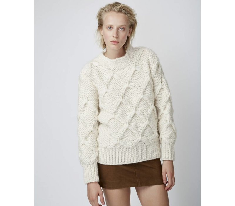Officine Generale Diamond Pull Wool Sweater