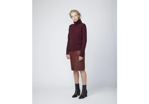 Officine Generale Flora Leather Skirt