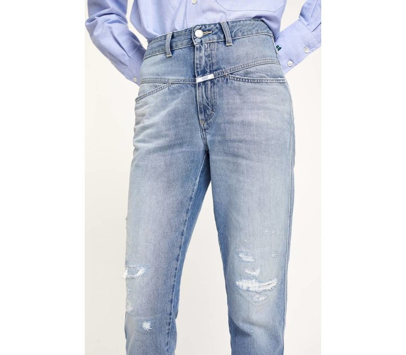 Closed Pedal Pusher With Print Jean