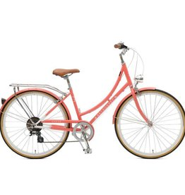 Retrospec Bicycles Venus 7 Speed City Bike. Coral, 44cm