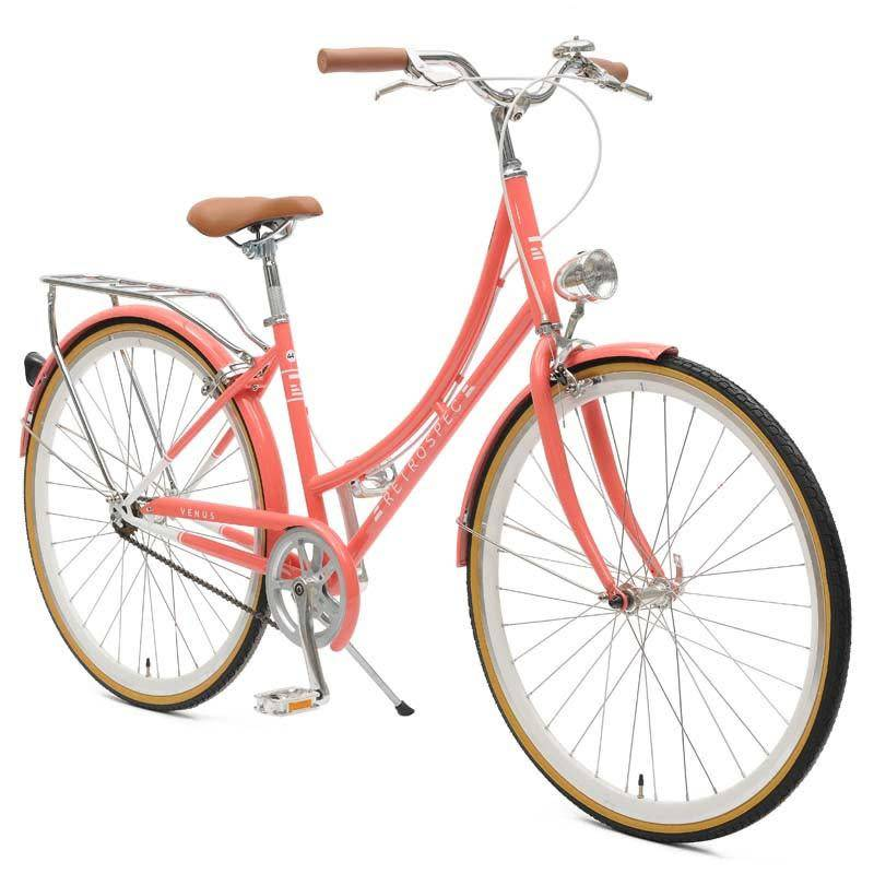 Retrospec Bicycles Venus Single Speed City Bike. Coral, 38cm