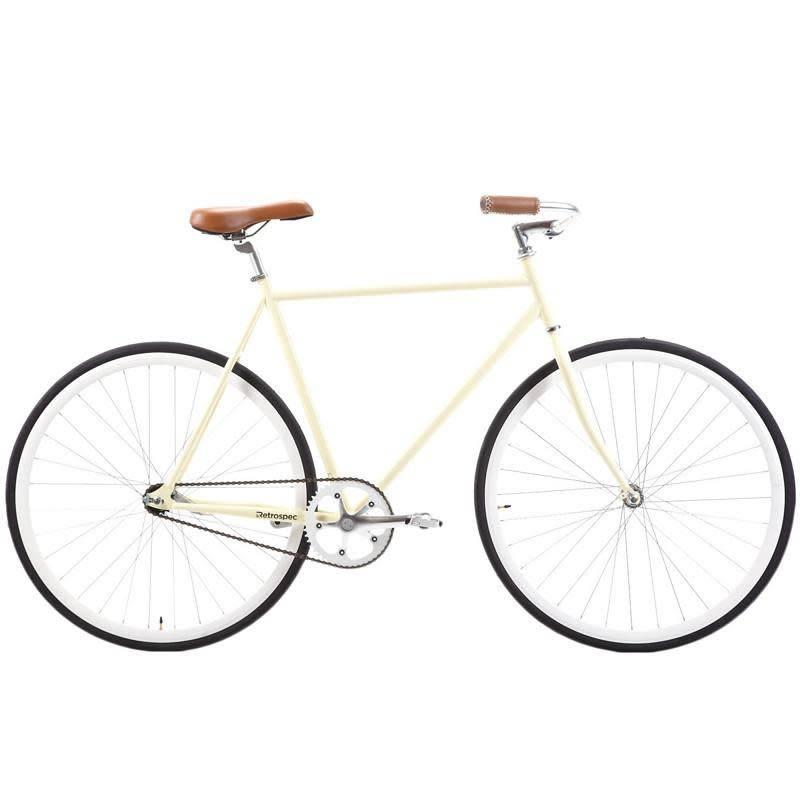 Retrospec Bicycles Siddhartha Urban Single-Speed Coaster Bike. Cream, 49cm