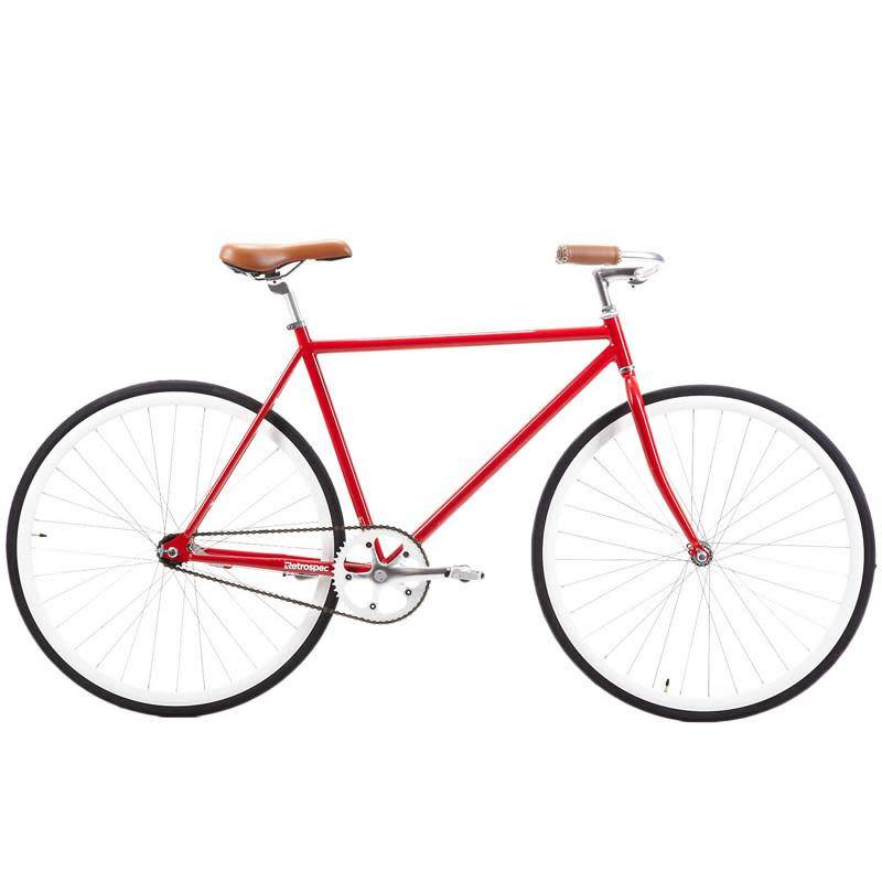 Retrospec Bicycles Siddhartha Urban Single-Speed Coaster Bike. Red, 57cm