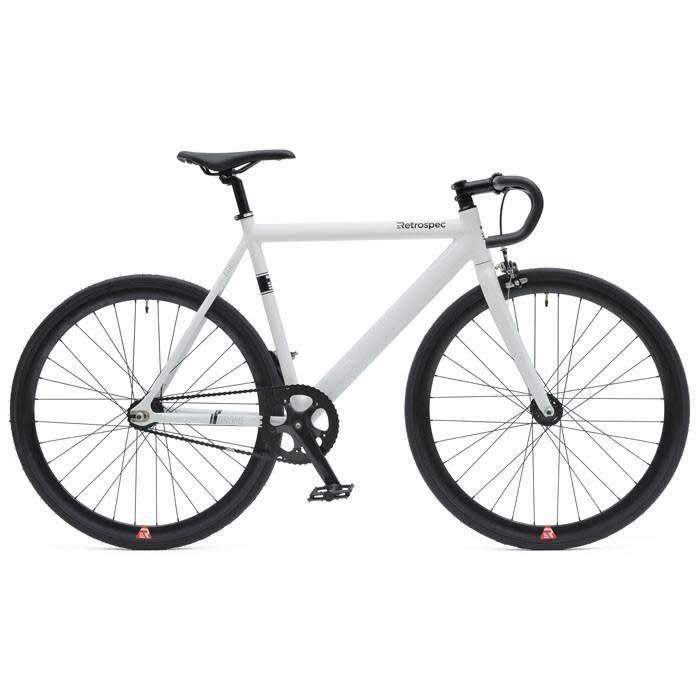 Retrospec Bicycles Drome Track Urban Commuter Bike White 61cm