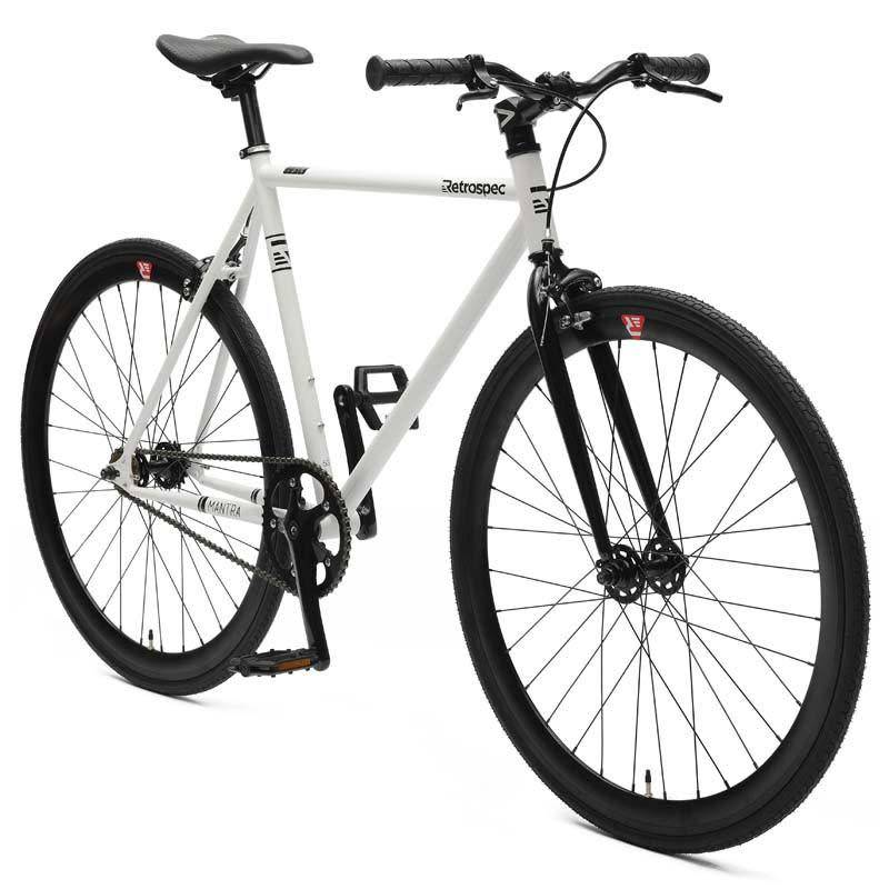 Retrospec Bicycles Mantra V2. White & Black, 43cm