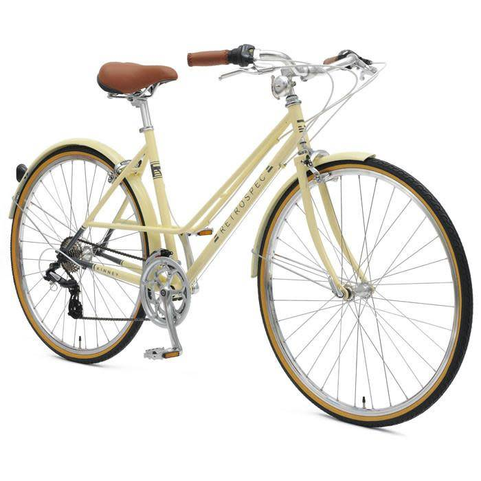 Retrospec Bicycles Kinney 14-Speed Mixte Bike. Cream, 43cm