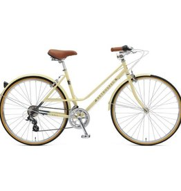 Retrospec Bicycles Kinney 14-Speed Mixte Bike. Cream, 49cm