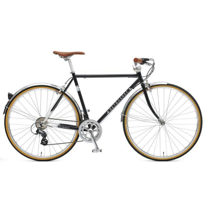 Retrospec Bicycles Kinney-14, Diamond Flat Bar. Black, 54cm
