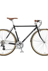 Retrospec Bicycles Kinney-14, Diamond Flat Bar. Black, 58cm