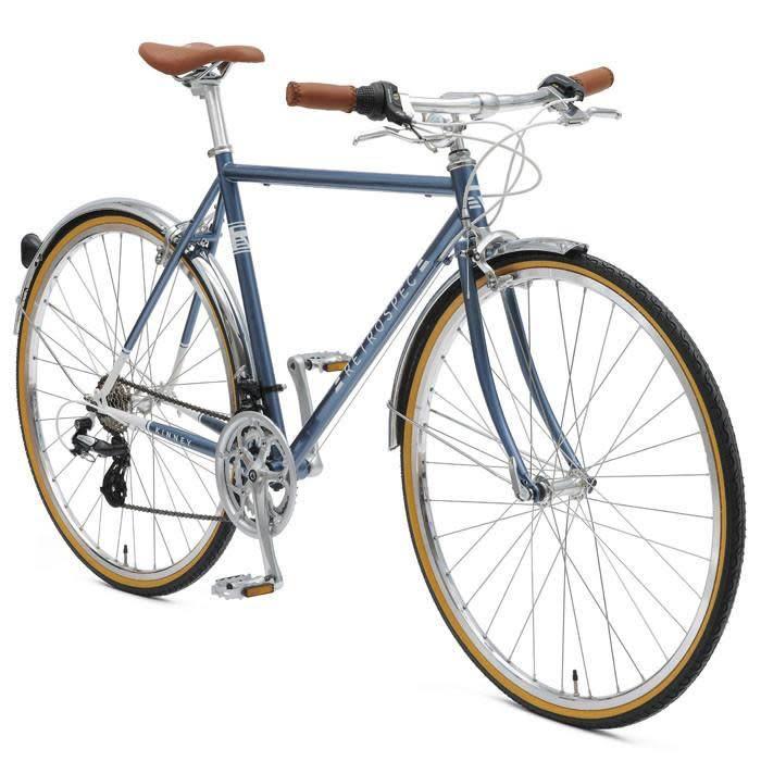 Retrospec Bicycles Kinney-14, Diamond Flat Bar. Navy Blue, 58cm