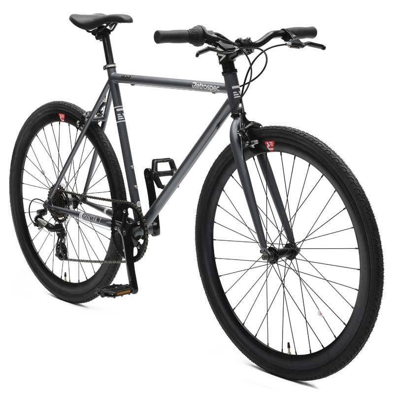 Retrospec Bicycles Mantra 7 Speed Urban Commuter Bike. Graphite & Black, 57cm