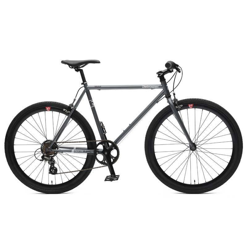 Retrospec Bicycles Mantra 7 Speed Urban Commuter Bike. Graphite & Black, 49cm