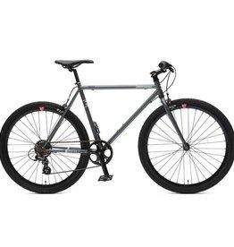 Retrospec Bicycles Mantra 7 Speed Urban Commuter Bike. Graphite & Black, 61cm