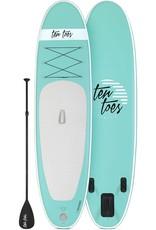 Ten Toes Board Emporium WEEKENDER 10' INFLATABLE STANDUP PADDLE BOARD, Seafoam