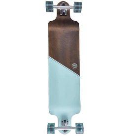 Ten Toes Board Emporium DROP 41-inch Drop-Down Longboard. Aqua