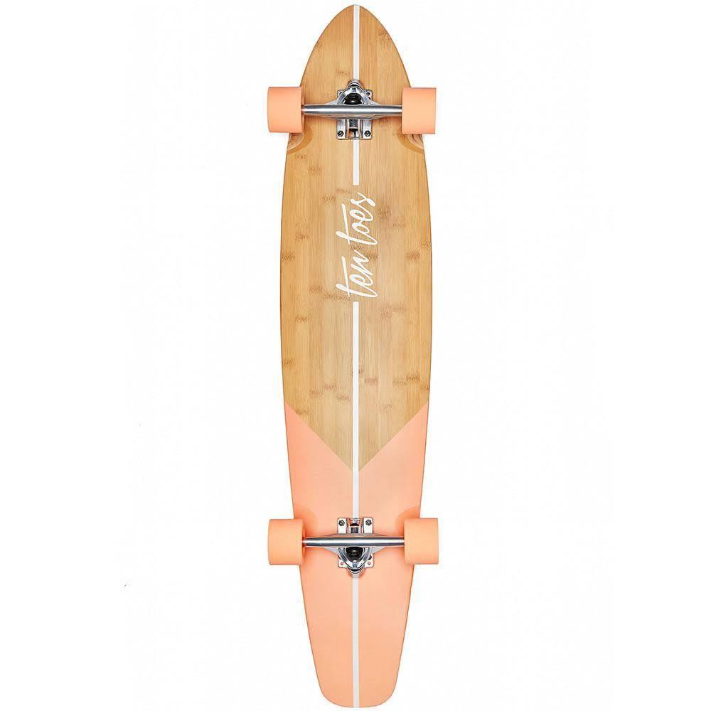 Ten Toes Board Emporium The ZED 44-inch Longboard. Salmon Fishtail