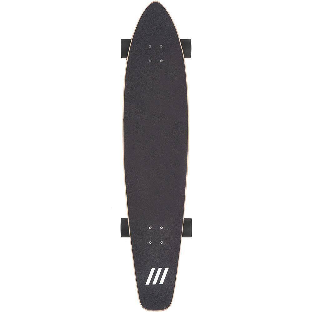 Ten Toes Board Emporium The ZED 44-inch Longboard. White Floral Print