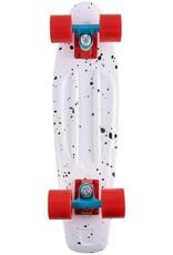Ten Toes Board Emporium QUIP Mini Cruiser Skateboard. White Speckles